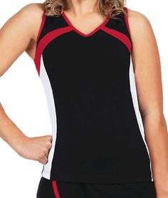 Multicolor Performance Lycra Racer Back Top with C-Dri
