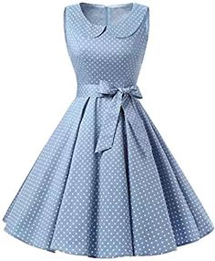 TideClothes Vintage Lapel Polka Dots Rockabilly Dress Party Cocktail Dress * Remarkable product available now. : Dresses for Christmas African Fashion Dresses, African Dress, Pretty Dresses, Beautiful Dresses, Elegant Dresses, Vintage Outfits, Vintage Fashion, Vintage 1950s Dresses, Retro Dress