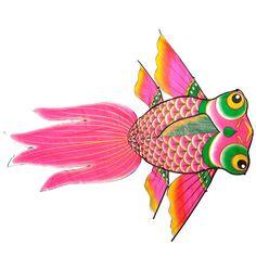 2017 Outdoor Fun Sport Cometas Kite Flying Superior Grande Para Niños Grownup Goldfish Juguetes Al Aire Libre 112x137 cm Sin Línea de mango