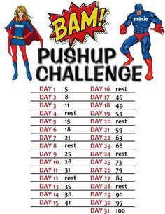 6 Push Ups for a shredded and rock solid upper body! Gonna start in a couple weeks after I'm done with my ab/squat challenge. Ready to get fit! :)Gonna start in a couple weeks after I'm done with my ab/squat challenge. Ready to get fit! Squat And Ab Challenge, Month Workout Challenge, Body Challenge, Challenge Accepted, Health Challenge, Fitness Herausforderungen, Fitness Motivation, Fitness Workouts, Fitness Journal