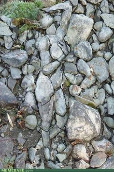 land art - figure in the stone Optical Illusions Pictures, Illusion Pictures, Face Illusions, Illusion Kunst, Illusion Art, Art Et Nature, Art Pierre, When You See It, Wow Art