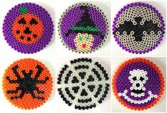 Hama bead Halloween coasters