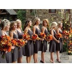 Palette of burnt orange, deep red, and pewter for a fall wedding,does this work? « Weddingbee Boards