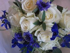 Soft Blue and Ivory Bouquet