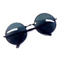 Image of Black circle lens sunglasses Circle Lenses, Round Sunglasses, Image, Black, Circle Glasses, Color Lenses, Round Frame Sunglasses, Black People