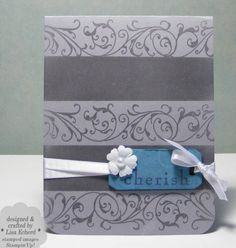 Two Tone Bkgrnd Cherish by LisaEDesign - Cards and Paper Crafts at Splitcoaststampers