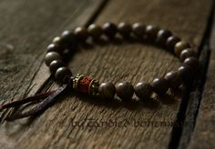Strength & Courage Men's Mala Bracelet Yoga by CandiedBohemian, $31.40