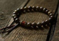 Strength & Courage Men's Mala Bracelet Yoga by CandiedBohemian, $31.40