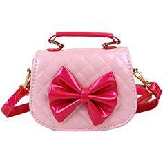 c3dff0f9a424b Happy Cherry Kleines Mädchen Tasche Kinder Umhängetasche Mode Frauen  Schultertasche PU Leder Handtasche Mit Schleife Verstellbar