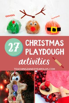 These Christmas playdough activities build fine motor skills and are calming for toddlers and preschoolers. Perfect during this busy season! #Christmas #holidays #playdough #finemotor #printables #toddlers #preschool #age2 #age3 #teaching2and3yearolds Playdough Activities, Infant Activities, Christmas Activities For Toddlers, Monster Invitations, Non Toy Gifts, Toddler Behavior, Toddler Preschool, Preschool Ideas, Christmas Fun