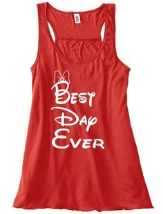 Disney Minnie Mouse Flowy Tank Top Great for Family Vacations, engagement, bachelorette party, or everyday wear. Request Other Designs