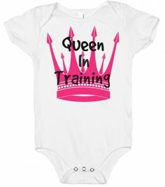 Custom Queen In Training T-Shirt.Check out my new design on @skreened