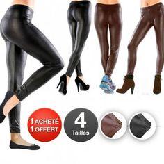 Le Legging effet cuir vole la vedette au Slim et devient le basique de l'hiver. Seconde peau, il est un Best, à porter en toutes circonstances. Il est vous est proposé en Noir ou Marron.
