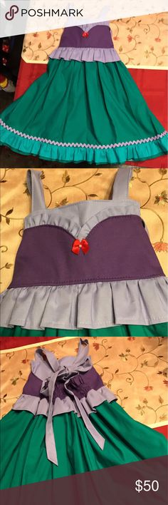 Beautiful hand made Ariel dress sz3-5 Brand new! Adjustable in back so could fit sizes 3-5 Dresses Casual