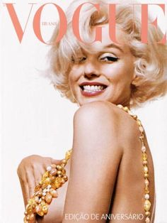 Marilyn on the cover of Vogue
