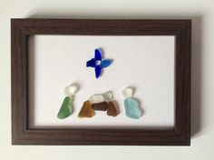 Nativity scene Seaglass nativity picture by Suzziesbitsandbobs