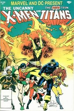 The comic that started it all for me.  My buddy in middle school lent it to me...I thought comics were silly until I read this: The Uncanny X-Men and The New Teen Titans is a crossover comic book published by DC Comics and Marvel Comics, and features two teams of superheroes, DC Comics' New Teen Titans and Marvel's X-Men.