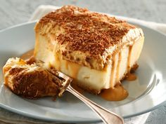 caramel milk tart - a South African recipe. I love milk tart!