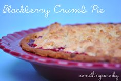 Blackberry Crumb Pie. Perfect way to use your summer berries for the 4th of July!! #pie #4thofJuly #somethingswanky