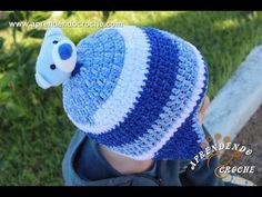 Gorro de Crochê Kids Ursinho - Aprendendo Crochê