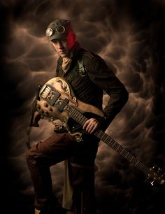 Steampunk bass guitar - Abney Park