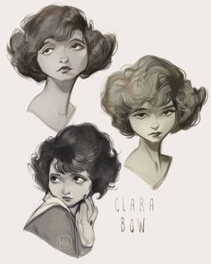 "6,731 Me gusta, 36 comentarios - loish (@loisvb) en Instagram: ""Went on a nostalgia spree! These are portraits of Clara Bow, an actress from the 20s who had the…"""