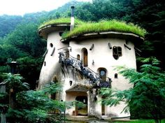 """""""Sod roof white storybook houses"""" My vacation home."""