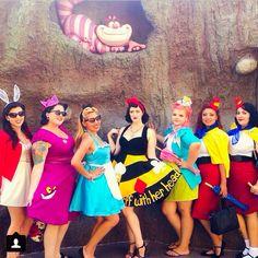 Mickeys pink ladies at pinups at the park 2014. Alice in Wonderland disneybound.