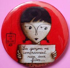 Badge d'après 1 illustration originale 1, Accessoires, Badge - PrimaCréa