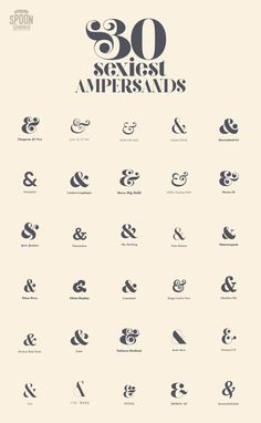 So I've been doing my ampersands back to front this whole time. My Top 30 Fonts with the Sexiest Ampersands Graphisches Design, Logo Design, Graphic Design Typography, Lettering Design, Branding Design, Japanese Typography, Creative Typography, Modern Typography, Vintage Typography