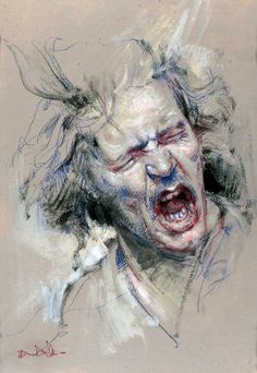 Bruno Di Maio - wonderfully expressive face verging on the edge of insanity perhaps (my comment)