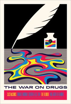 Poster: The War On Drugs at the Fillmore SF on Behance by Schaaf Design