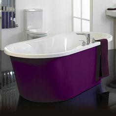 New bathroom ideas purple tubs 20 ideas Purple Love, All Things Purple, Shades Of Purple, Pink Purple, Purple Stuff, Purple Bathrooms, Purple Rooms, Big Bathrooms, Bathroom Shop
