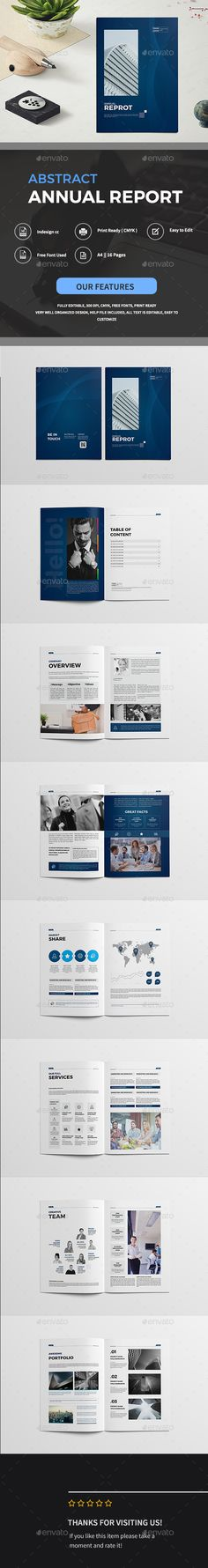Abstract Annual Reprot Brochure — InDesign INDD #unique #trendy • Download ➝ https://graphicriver.net/item/abstract-annual-reprot-brochure/19605134?ref=pxcr