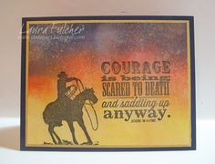 Laura's Stamp Art Journal: IO Challenge- Words of Encouragement
