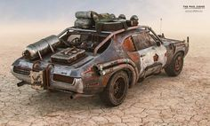 1969 Pontiac GTO (The Judge), a dystopian hybrid car, inspired by the magnificent Mad Max universe, created by George Miller and Byron Kennedy. The Mad Judge Post Apocalypse, Chevrolet Bel Air, Fallout, Zombie Survival Vehicle, Petkovic, Death Race, Mad Max Fury Road, 3d Modelle, Buggy