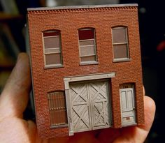 ho scale brick paper | Model Railroad Forums • View topic - Testing the water - a community ...