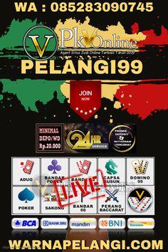 #Pelangi99 #PokerOnline #AgenPoker #PokerIndonesia  #SitusPoker #BandarQ  #CapsaSusun  #DominoQQ #Domino99 #AgenBandarQ #AduQOnline