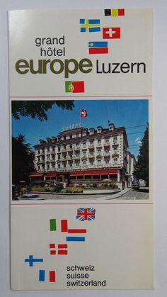 Vintage Travel Brochure Grand Hotel Europe Lucerne Switzerland Luzern