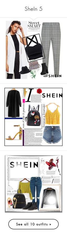 """""""SheIn 5"""" by amina-haskic ❤ liked on Polyvore featuring shein, Converse, Bobbi Brown Cosmetics, WALL, T&C Floral Company and Allstate Floral"""
