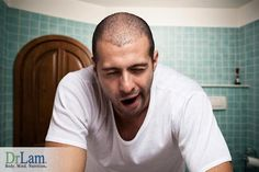 Young adult exhausted due to adrenal fatigue