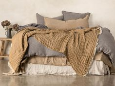 Hale Mercantile Co. pure linen bedding provides a unique sleeping experience and is produced from pure Belgian and French flax linen. Our luxury linen bedding is perfect for layering and creating a relaxed, dreamy bedroom any time of the year. Bedding Master Bedroom, Home Bedroom, Bedroom Decor, Bedrooms, Bedding Decor, Linen Bedroom, Linen Bedding, Bedding Sets, Linen Sheets