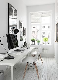 Desk Furniture Home Office . Desk Furniture Home Office . Home Office In Black and White Colors Wooden Desk Monstera Mesa Home Office, Cozy Home Office, Tiny Office, Home Office Space, Home Office Desks, Home Office Furniture, Office Workspace, Furniture Ideas, Office Chairs