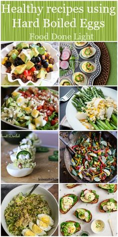 So many great ideas for Easter Eggs! Healthy Recipes that use Hard Boiled Eggs! Low Calorie Low Fat