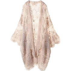 Beige Lace Cardigan ($490) ❤ liked on Polyvore featuring tops, cardigans, jackets, outerwear, pink cardigan, lace cardigan, pink top, lacy tops and lacy cardigan