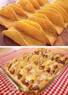 Im making these for dinner tonight! baked tacos -Made 11/19/12. SO YUMMY! The meat mix is especially delicious!