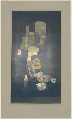 Paul Klee. Girl with Doll Carriage (Mädchen mit Puppenwagen). 1923