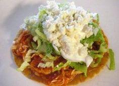 Recetas - TOSTADAS DE TINGA DE POLLO - La primera red social de comida mexicana