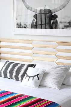 This cool, modern DIY headboard is on the project to-do list.