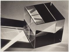 Carlotta Corpron - Patterns in a Glass Cube, Moholy Nagy, Glass Cube, Light And Space, Man Ray, Shoe Art, Photomontage, Black And White Photography, Still Life, Art Photography